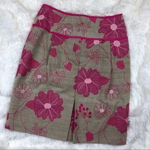 Etcetera Pink and Tank Embroidered Flower Skirt